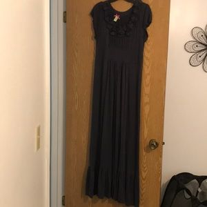 Charcoal Gray Maxi Dress